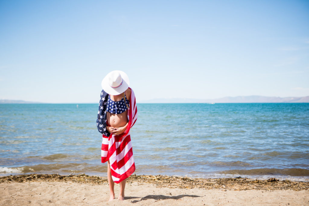 Fourth of July Maternity Swim